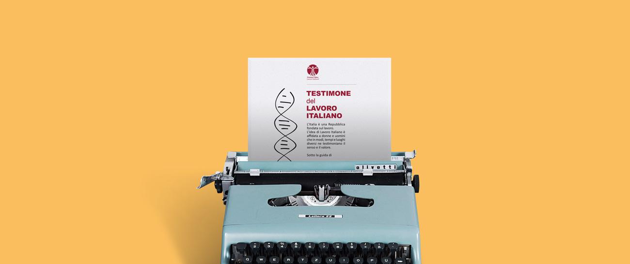 Attestato - Testimoni del lavoro italiano