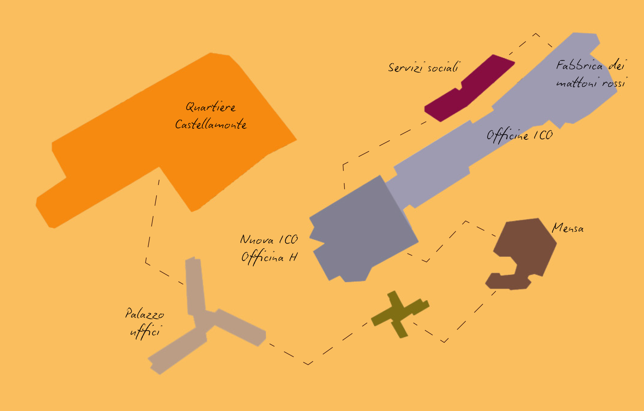 Mappa Città dell'Uomo - Ivrea
