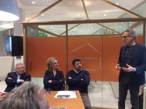 Alberto Peretti parla agli imprenditori di Pavia